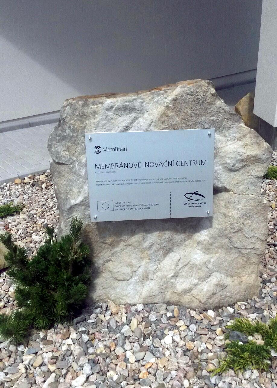 Základní kámen budovy dotované z programu EU